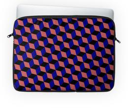 """Чехол для ноутбука 14'' """"3D квадраты"""" - арт, абстракция, 3d, квадраты"""
