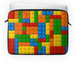 """Чехол для ноутбука 14'' """"Конструктор Лего"""" - рисунок, детский, игрушка, конструктор, лего"""