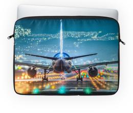 """Чехол для ноутбука 14'' """"Самолет"""" - небо, самолет, авиалайнер"""