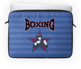 """Чехол для ноутбука 14'' """"Боксер"""" - звезда, надпись, полоска, бокс, боксер"""