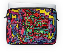 "Чехол для ноутбука 14'' ""SX`ED-0"" - арт, узор, абстракция, фигуры, текстура"