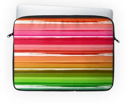 """Чехол для ноутбука 14'' """"Палитра"""" - узор, рисунок, разноцветный, полосатый, палитра"""