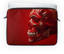 "Чехол для ноутбука 14"" ""Skull - 6"" - skull, череп, арт, music, rock and roll"