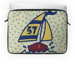 """Чехол для ноутбука 14"""" """"Кораблик"""" - парус, рыба, яхта, лодка, кораблик"""
