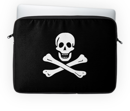 """Чехол для ноутбука 14"""" """"""""Весёлый Роджер - Jolly Roger"""""""" - череп, пираты, jolly roger, пиратский флаг, весёлый роджер"""