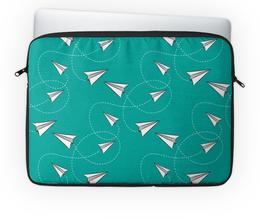 """Чехол для ноутбука 14'' """"Бумажные самолетики"""" - полет, бумажный, самолетик"""