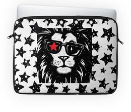 """Чехол для ноутбука 14"""" """"Животные"""" - арт, россия, дизайн, животные, лев"""