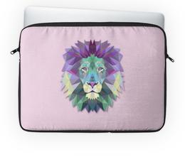"""Чехол для ноутбука 14'' """"Lion!!!"""" - лев, lion, розовый"""