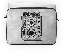 "Чехол для ноутбука 14"" ""Drum and Bass"" - drum and bass, dj, jungle, dubstep, music"