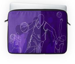 """Чехол для ноутбука 14"""" """"Баскетбол.NBA"""" - фиолетовый, спорт, баскетбол, мяч, шорты"""