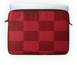 """Чехол для ноутбука 14'' """"Красный геометрический узор"""" - красный, горох, прямоугольник, оттенок"""