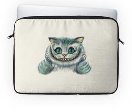 "Чехол для ноутбука 14'' ""Чеширский кот"" - кот, алиса, алиса в стране чудес, чеширский кот"
