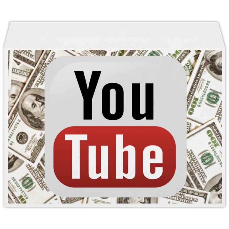 Конверт большой С4 Printio Youtube кепка printio youtube