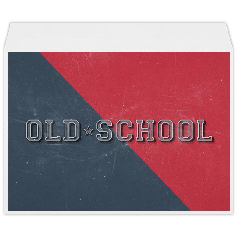 Конверт большой С4 Printio Old school style самсунг гэлакси с4 мини купить