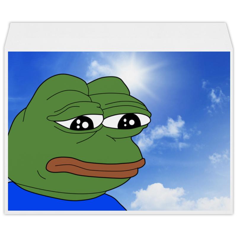Конверт большой С4 Printio Sad frog сковорода supra tedory sad t262f 26см sad t262f marble