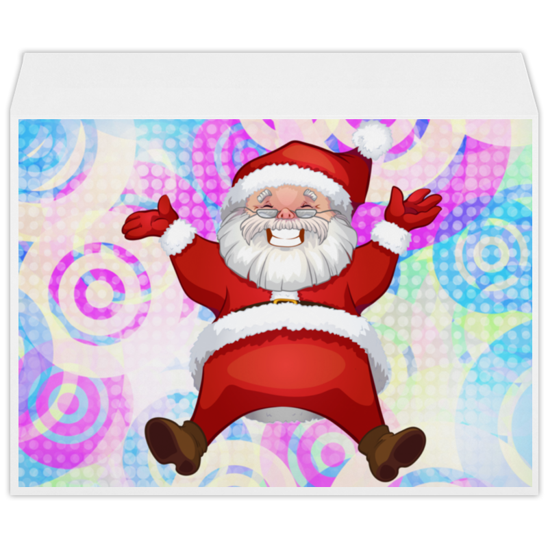Конверт большой С4 Printio Санта клаус colorful santa claus pattern linen pillow case