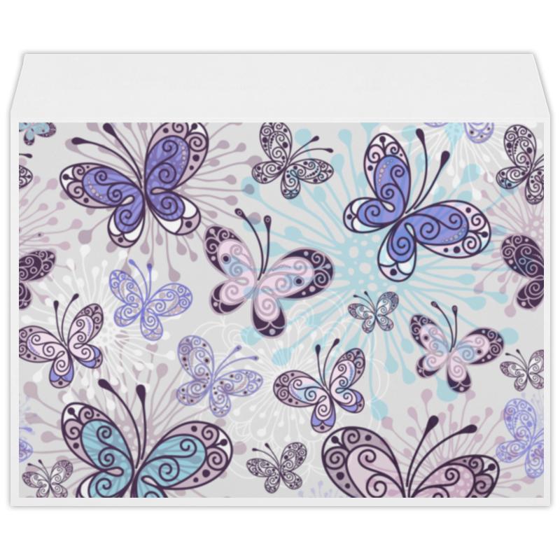 Конверт большой С4 Printio Фиолетовые бабочки конверт открытка студия тетя роза бабочки ораз 0029