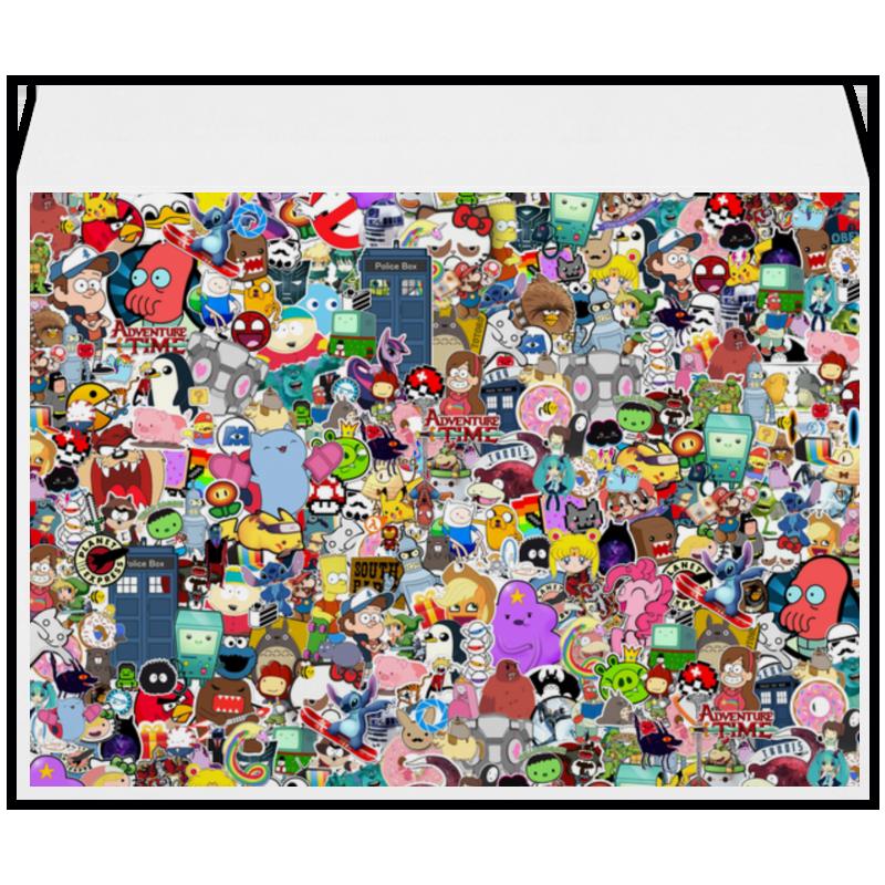 Конверт большой С4 Printio Stickers самсунг гэлакси с4 мини купить