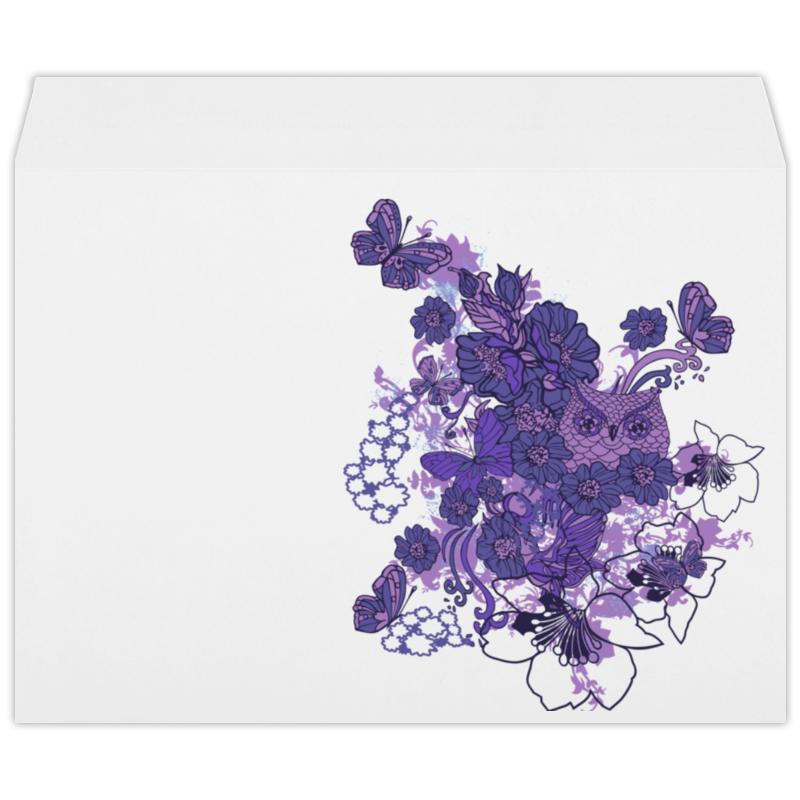 Конверт большой С4 Printio Сова в цветах конверт открытка студия тетя роза бабочки ораз 0029