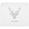 """Конверт большой С4 """"Dear Deer"""" - рисунок, дизайн, олень, минимализм, рога"""