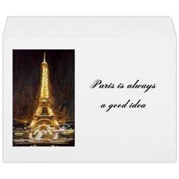 """Конверт большой С4 """"Париж"""" - шоколад, париж, одри хепберн, paris, эйфелева башня"""