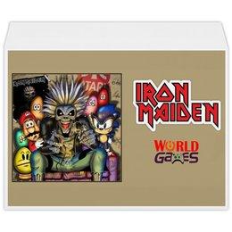 """Конверт большой С4 """"Iron Maiden"""" - heavy metal, рок музыка, рок группа, iron maiden, айрон мэйден"""