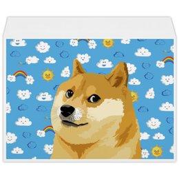 """Конверт большой С4 """"DOGE DOGE"""" - мем, dog, собака, meme, doge"""