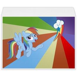"Конверт большой С4 ""Rainbow Dash Color Line"" - rainbow dash, magic, fim, cutiemark, friendship"