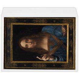 """Конверт большой С4 """"Спаситель мира Леонардо да Винчи"""" - арт, картина, живопись, леонардо да винчи, спаситель мира"""