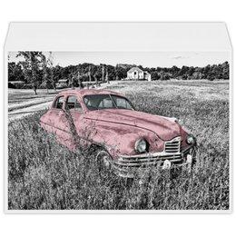 """Конверт большой С4 """"Раритет 1"""" - автомобиль, машина, ретро, раритет, пейзаж"""