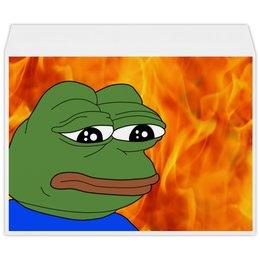 """Конверт большой С4 """"SAD FROG"""" - мем, meme, грустная лягушка, sad frog"""