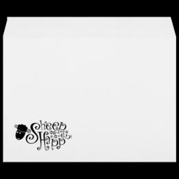 """Конверт большой С4 """"Sign Sheep"""" - юмор, смешное, прикольные, оригинально, креативно, овечка"""