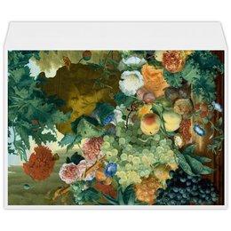 """Конверт большой С4 """"Фрукты и цветы (Ян ван Хёйсум)"""" - цветы, картина, живопись, натюрморт, ян ван хёйсум"""
