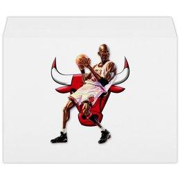 """Конверт большой С4 """"Michael Jordan Cartooney"""" - 23, чикаго, бык, chicago bulls, джордан"""