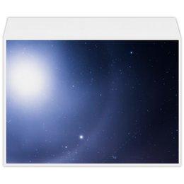 """Конверт большой С4 """"Без названия"""" - космос, небо, луна, звёзды, галактика"""