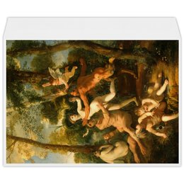 """Конверт большой С4 """"Пан и Сиринга (Никола Пуссен)"""" - картина, живопись, мифология, пуссен, классицизм"""