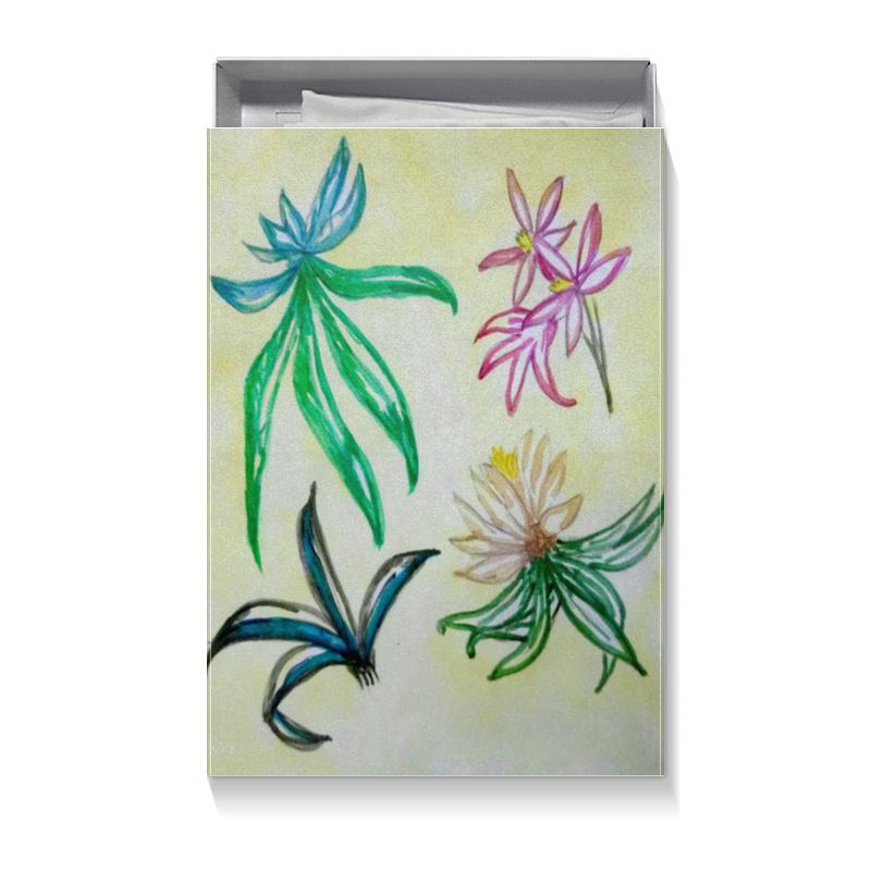 Коробка для футболок Printio Подарочная флора