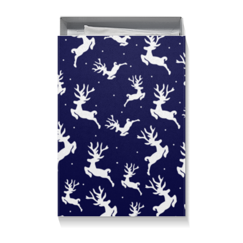 Коробка для футболок Printio Рождественские олени коробка для футболок printio микки