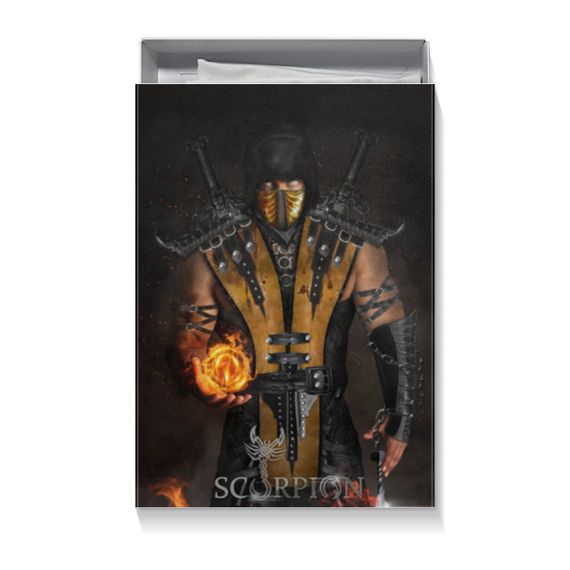 Коробка для футболок Printio Mortal kombat (scorpion) 32oz superior mixed nuts gift tin unsalted