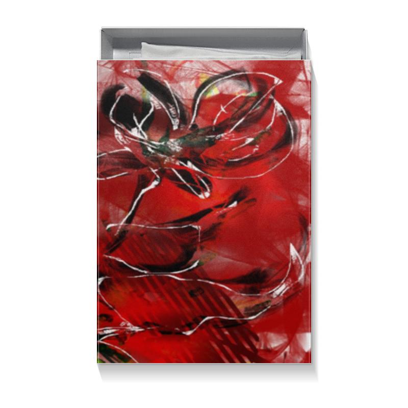 Коробка для футболок Printio Огненно-цветочная абстракция коробка для футболок printio цветочная
