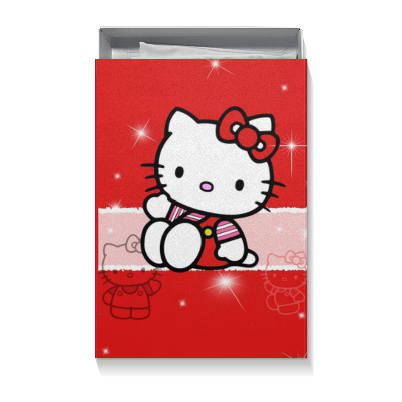 Коробка для футболок Printio Hello kitty с искрами cxzyking 20cm sweet new kt cat hello kitty plush toys cute hug mushroom hello kitty kt cat pillow dolls for kids baby girl gift