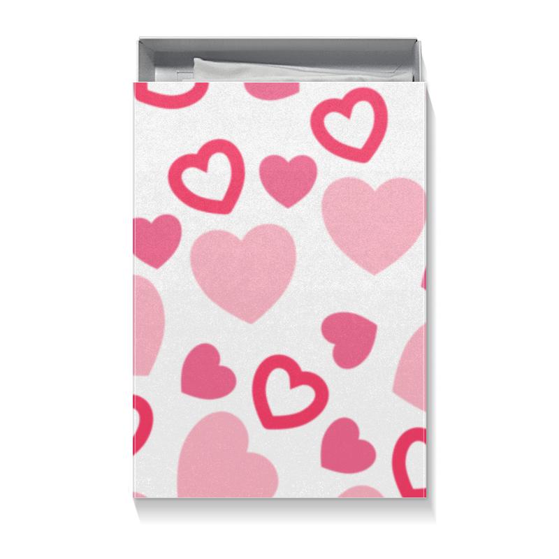 Коробка для футболок Printio Сердечная цветной тм натюрморт в розовых тонах