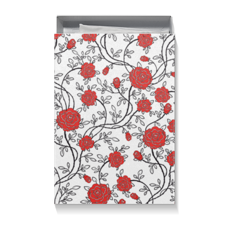 Коробка для футболок Printio Красные розы шляпная коробка grand розы freedom blvck
