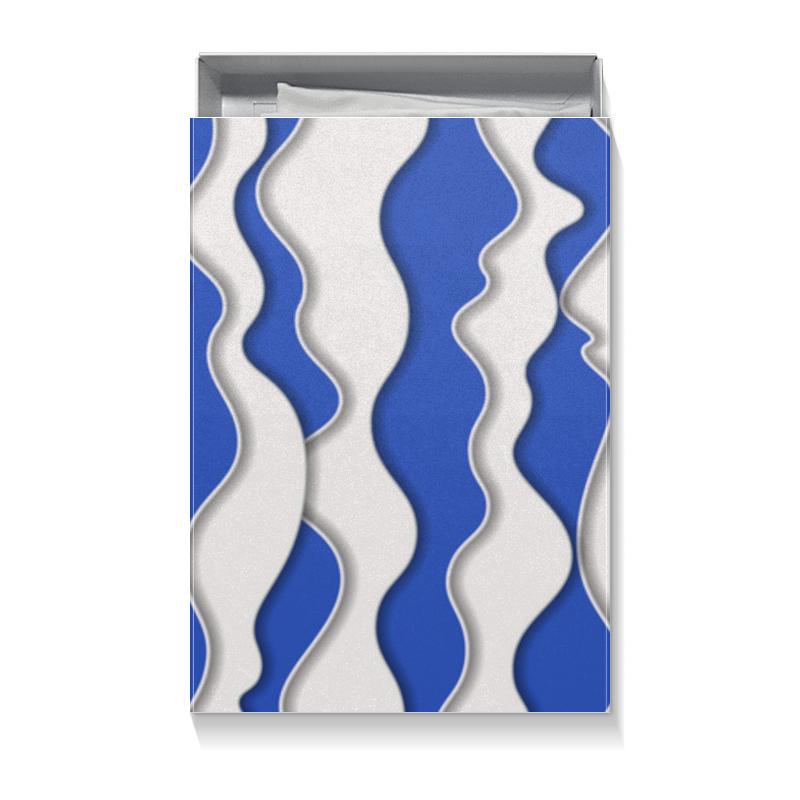 Коробка для футболок Printio Абстрактные волны подарочная коробка малая пенал printio цвета морской волны