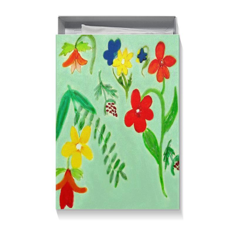 Коробка для футболок Printio Подарочная летние цветы коробка для чехлов printio подарочная летние цветы
