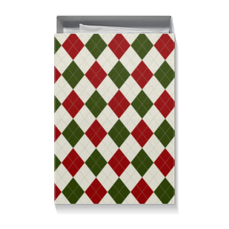 Коробка для футболок Printio Рождественский узор коробка для кружек printio рождественский узор
