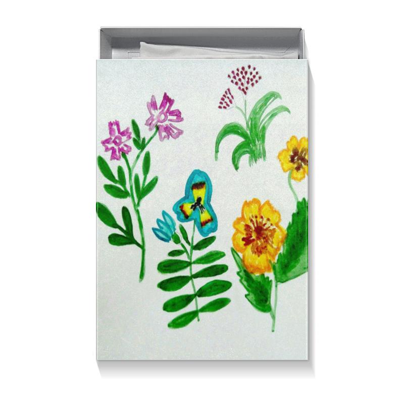 Коробка для футболок Printio Полевые цветы блокнот кофемана нежные цветы