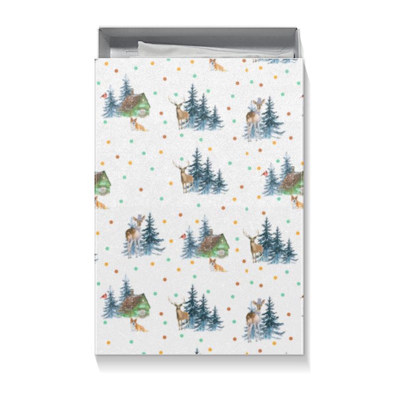 Коробка для футболок Printio Домик в лесу коврик для мышки printio домик в лесу