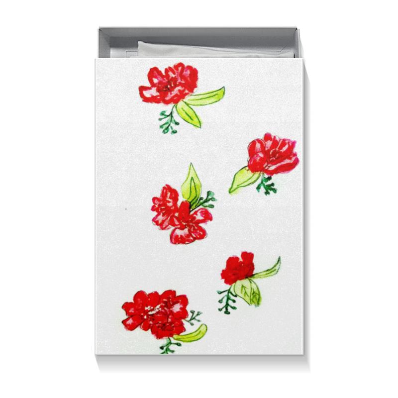 Коробка для футболок Printio Подарочная красные цветы