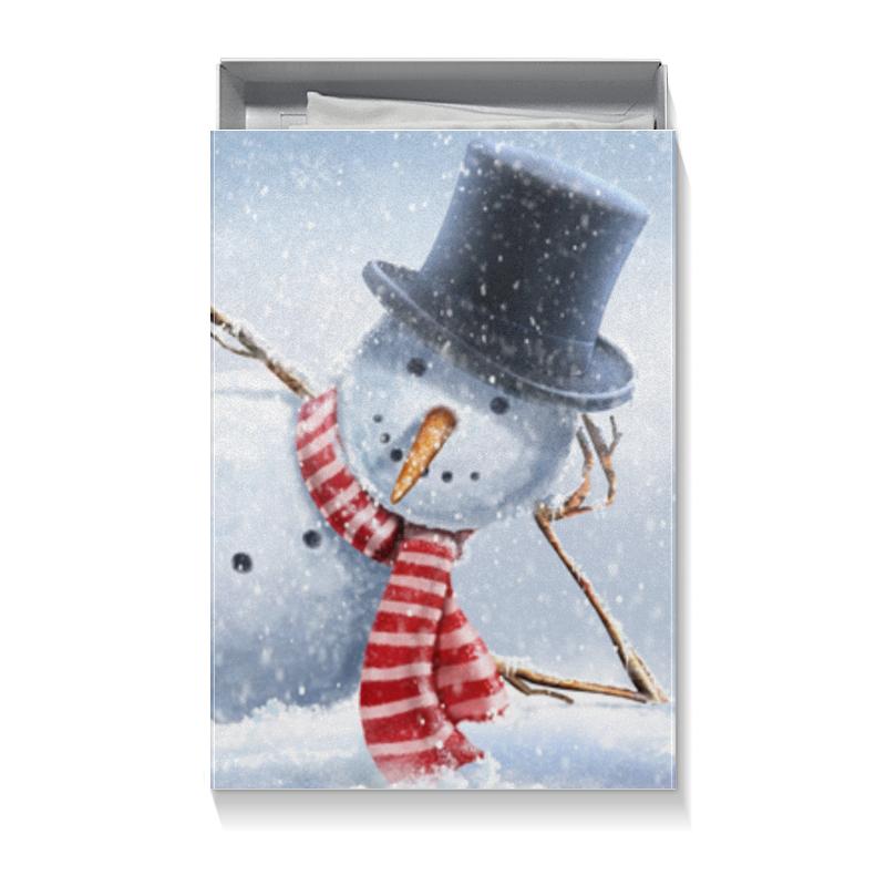 Коробка для футболок Printio Снеговик